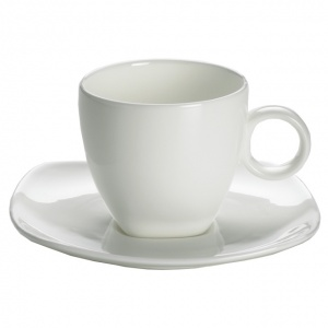 Maxwell and Williams, Cashmere Square Bone China, filiżanka espresso 110 ml ze spodkiem