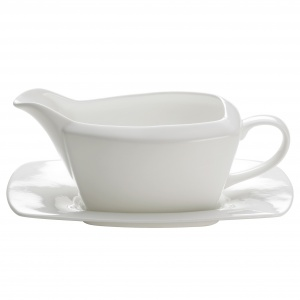 Maxwell and Williams, Cashmere Square Bone China, sosjerka z podstawkiem