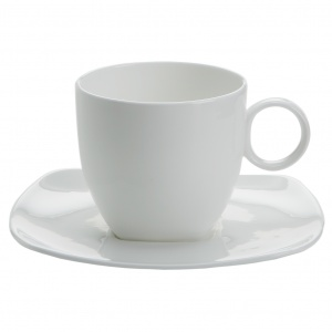 Maxwell and Williams, Cashmere Square Bone China, filiżanka 260 ml ze spodkiem