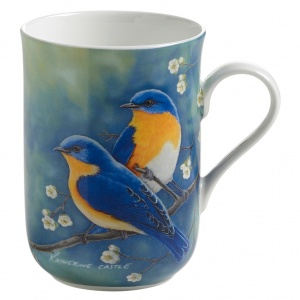 Maxwell and Williams, Birds of the World Bone China, kubek 350 ml, błękitnik