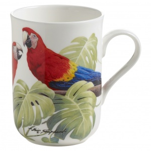 Maxwell and Williams, Birds of the World Bone China, kubek 350 ml, ara czerwona