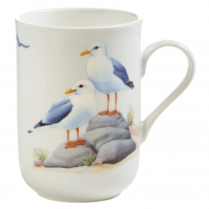 Maxwell and Williams, Birds of Europe Bone China, kubek 350 ml, mewy
