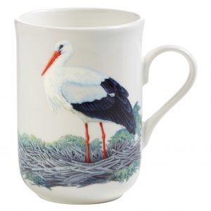 Maxwell and Williams, Birds of Europe Bone China, kubek 350 ml, bocian