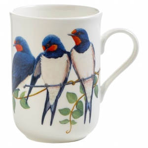 Maxwell and Williams, Birds of Europe Bone China, kubek 350 ml, jaskółki
