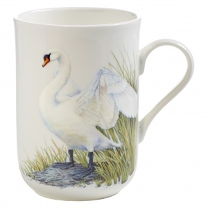Maxwell and Williams, Birds of Europe Bone China, kubek 350 ml, łabędź